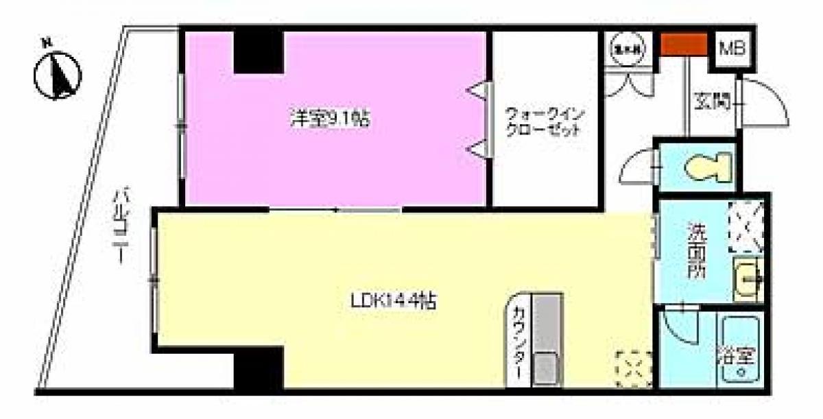賃貸マンションルミエール幟の画像2