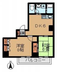 賃貸マンションスカイハイツ3号の間取り図画像2