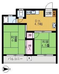 賃貸マンション松村ビルの間取り図画像3